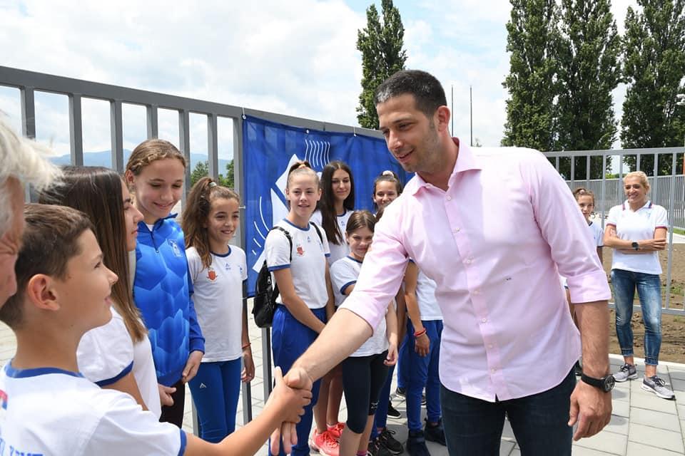 Vanja Udovičić pozdravlja najmlađe sportiste AK Kraljevo