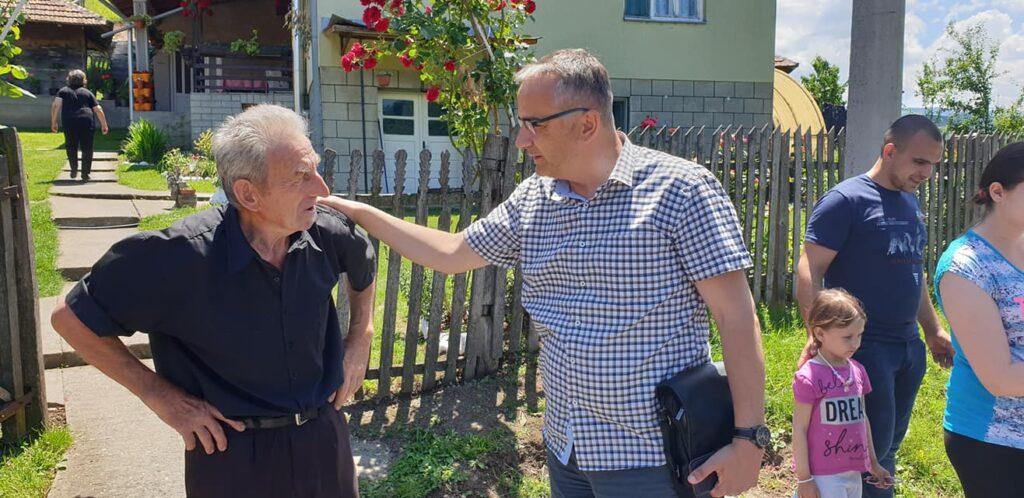 Vukman Rakočević u poseti selu Bogutovac