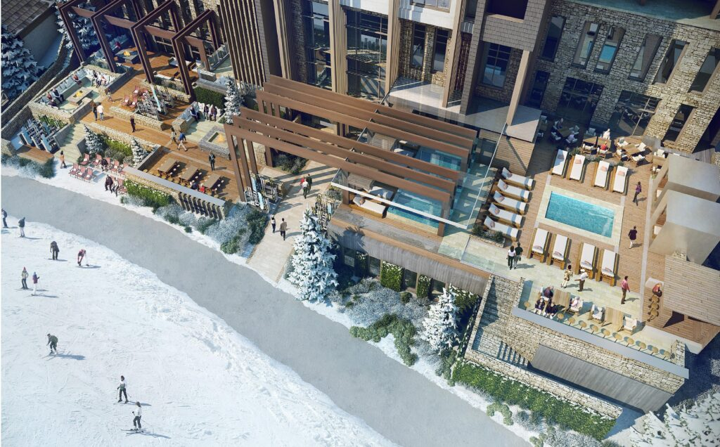 Viceroy pool and apre ski terrace